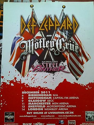 Def Leppard 2011 Tour Gig Advert A4 Poster from Kerrang Magazine Ideal to Frame