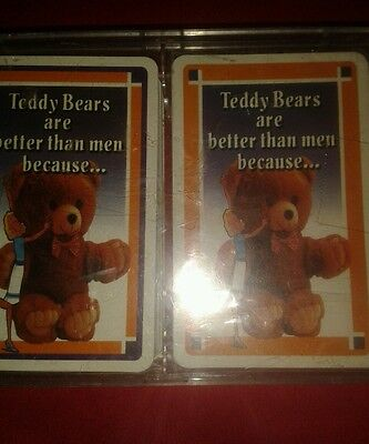 2 x sets of  playing cards Why Teddy Bears are better than men