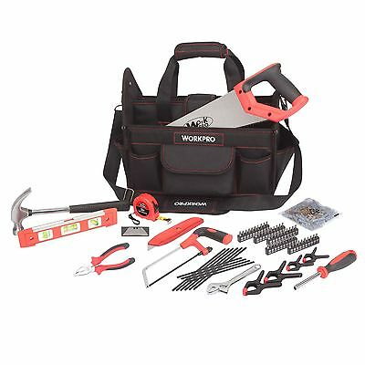 WorkPro 74 Piece  Tool Kit Hammer Saw level ect..