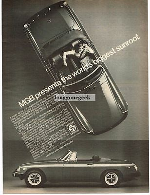 1976 MG MGB Convertible Automobile Car Vtg Print Ad
