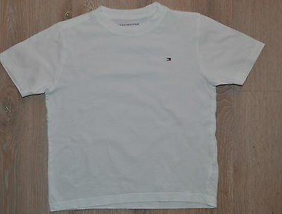 Boys Tommy Hilfiger T Shirt White Age 6 - 7 Years