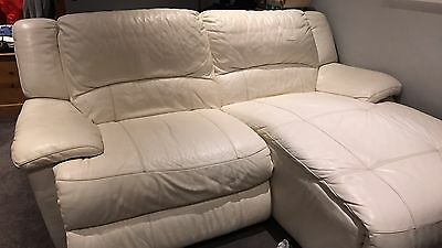 Two Leather  Electric Recliner sofas