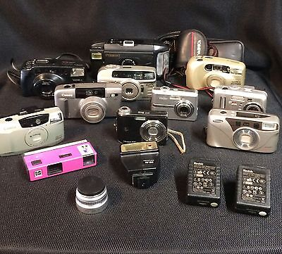 Lot of digital & film cameras and various accessories