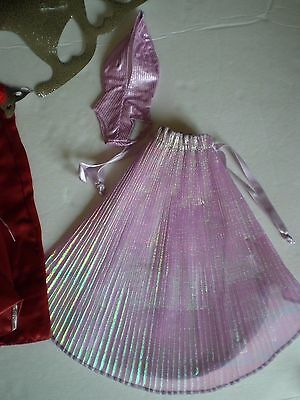 Vintage Beautiful 2 Pc Lavender Accordian Pleated Gown
