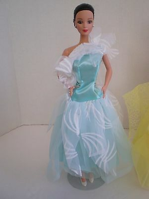 Vintage Beautiful Lovely Full Aqua Gown