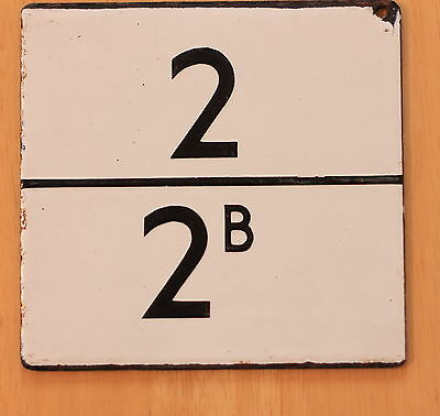 LONDON TRANSPORT ENAMEL SPLIT E PLATE 2 & 2B (First Routemaster route in London)