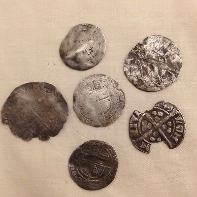 silver hammered coins metal detecting finds