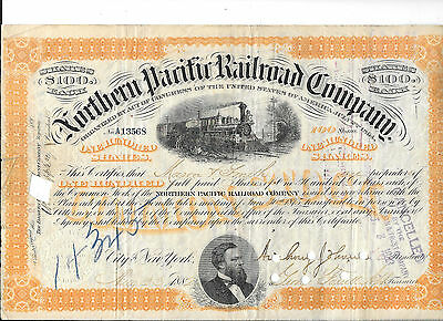 Special--  8--Northern Pacific Railroad--1882----Stock Certificates