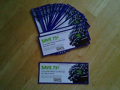 Welch's Juice Jam Jelly Spread Welch's Coupons Lot (20) exp 12/31/17