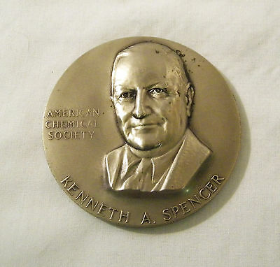 American Chemical Society Kenneth Spencer MEDALLIC ART CO. Nickel Silver