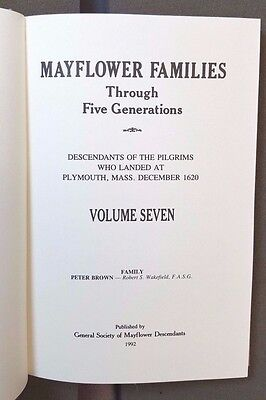 Mayflower Families Through Five Generations - Vol.7 (Peter Brown)