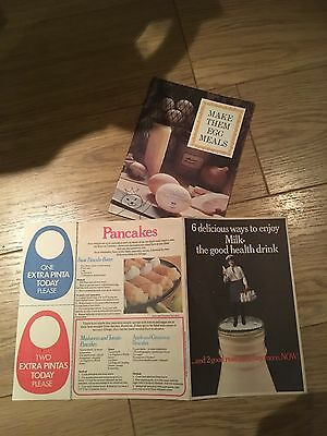 Old milk and eggs adverts booklets