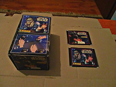 Star Wars - Panini - Original Empty Box + Two Unopened Packs With Stickers