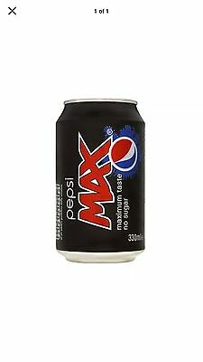 Pepsi Max Cans Soft Drink Full Case X24 330ml Free Delivery