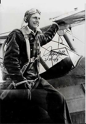 Jerry Yellin 78Th Fighter Sqdrn Pilot Flew Last Mission Ww 2 Rare Signed Photo