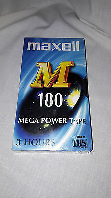 Maxell E-180 New Sealed Vhs Video Tape.