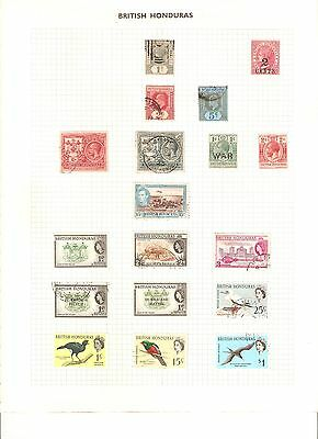 Stamps of British Honduras, 1940's on, lightly hinged, well displayed 3 sheets