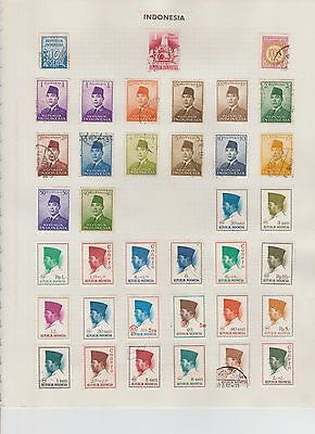 Stamps of Indonesia well-displayed,fine condition early 20th C