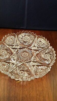 """Imperial Glass Nucut Pressed Plate 7"""""""