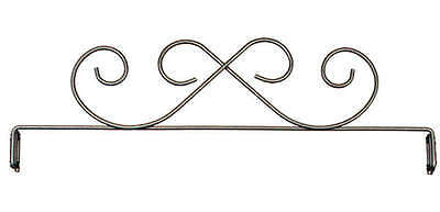 SCROLL QUILT HANGER HEADER, 12 Inch Silver From Ackfeld Manufacturing NEW
