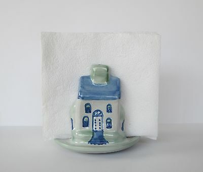 M.A. Hadley Pottery - Home Sweet Home House Napkin Holder - Louisville Kentucky