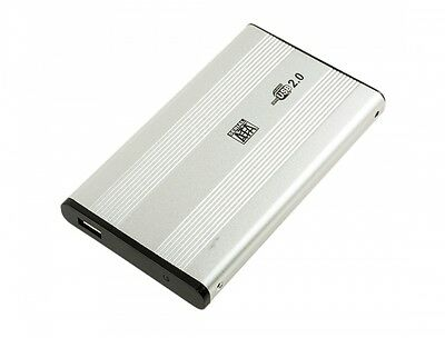 """New 320GB External Portable 2.5"""" USB Hard Drive. Free faux leather carry case"""
