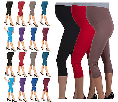 NEW Cropped  Comfortable Maternity Cotton Leggings 3/4 Length PREGNANCY- mtr3/4