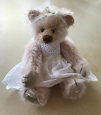 "RARE Deb Canham ""Peaches"" 3.75"" Miniature Mohair Bear"