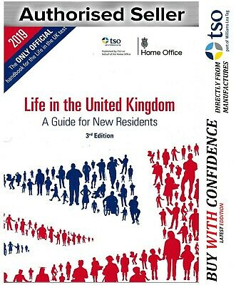 Life in the UK United Kingdom 3rd Edition Citizenship Test Book 2019-LF