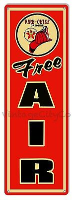 Texaco Fire Chief - Free Air Garage / Service-Station Metal Sign - Reproduction