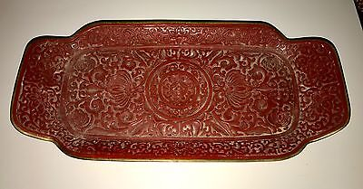Chinesisches Rotes Tablett Chinese Red Tablet Lotus