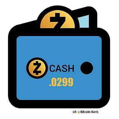 0.0299 ZCash Crypto Currency Guaranteed Deliver Direct to Your Wallet! ZEC Coin