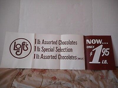 Vintage Loft's  Candies Poster Assorted Chocolates