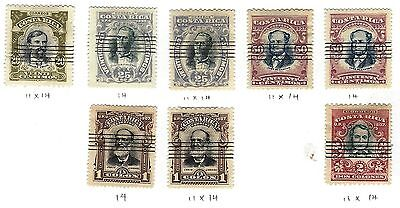 COSTA RICA Sc 64-68 1907 ISSUES
