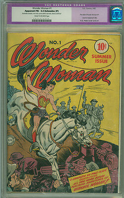 Wonder Woman 1 CGC 5.5 FN- EP DC 1942 Mega Key Issue!  Time Payments Available