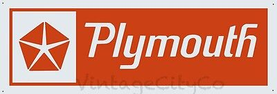 "1960s - 1970s Style "" Plymouth ""  Advertising Metal Sign"