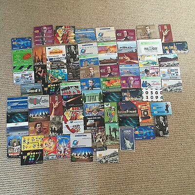 Mixture Of Phone cards From Around The World