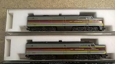 Kato N scale PA1 2pack, both powered Erie lackawanna