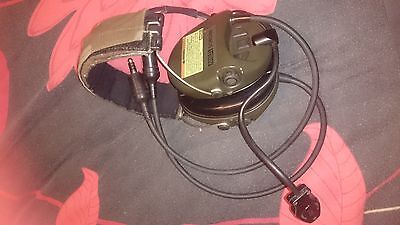 MSA SORDIN DUAL COMMUNICATION TACTICAL HEADSET OD. US military. NSW, comtac te
