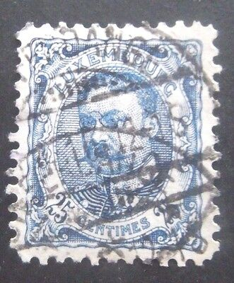 Luxembourg-1906-25c Blue-Used