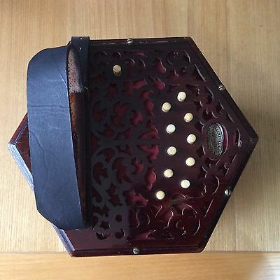 Lachenal Anglo Concertina 20 Buttons Serial No 165212