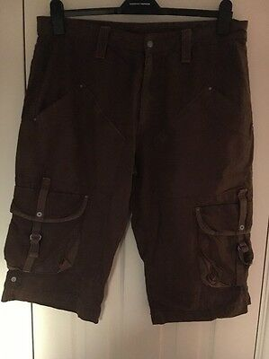 Next Men's Brown Cargo Short 36inch Waist