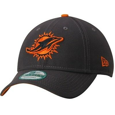 Miami Dolphins New Era 9Forty Grafpop Adjustable Cap - Graphite