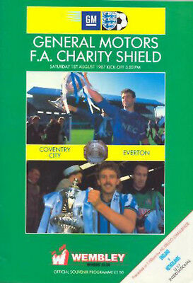 Coventry City v Everton 1987 F.A. Charity Shield Programme