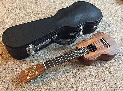 Imua Hawaiian Solid Koa Soprano Ukulele and Quality Oahu Hard Case