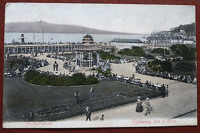 Vintage Postcard- The Bandstand, Rothesay, Isle of Bute- posted 1905