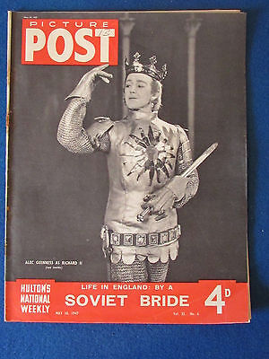 Picture Post Magazine - 10/5/1947 - Alec Guiness as Richard II Cover