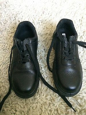 Mens Black Safety Antistatic Oil Resistant Leather Shoe Steel Toe Cap Size 6