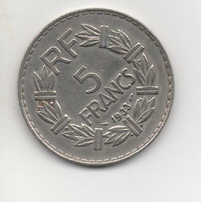5 Francs Type LAVRILLIER  1933 Nickel