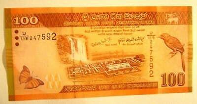 Banknotes Sri Lanka 100 Rupees 01.01.2010 Unc Condition